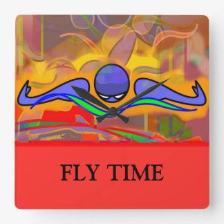 """IM Morn Fly """"FLY TIME"""" Clock"""