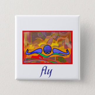 IM Morn Fly Pinback Button