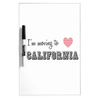 I'm Moving To California Dry-Erase Board