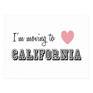 I'm Moving To California Postcard