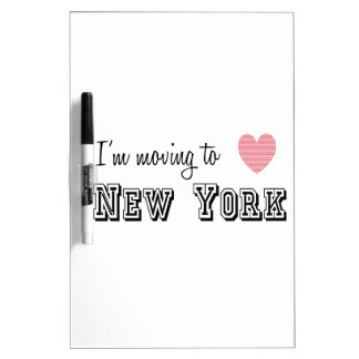 I'm Moving To New York Dry Erase Board