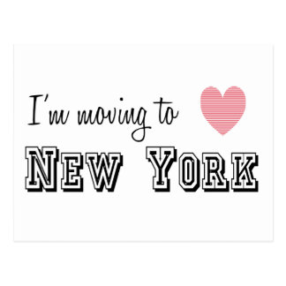I'm Moving To New York Postcard