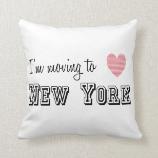 I'm Moving To New York Throw Pillow