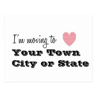 I'm Moving To... Personalized Postcard