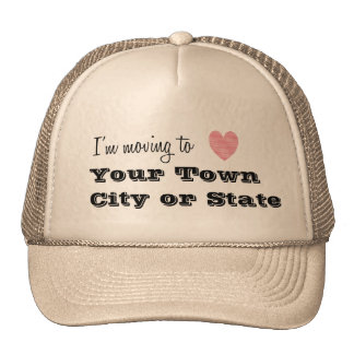I'm Moving To... Personalized Trucker Hat