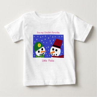 I'M MY UNCLE'S FAVORITE LITTLE FLAKE BABY TEE