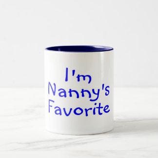 Im Nannys Favorite Blue Two-Tone Coffee Mug
