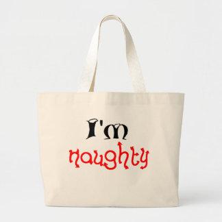 I'm naughty tote bags