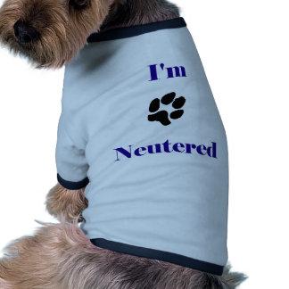 I'm neutered doggie tee shirt
