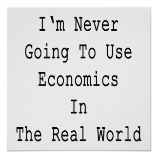I'm Never Going To Use Economics In The Real World Poster