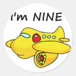 I'm Nine, Yellow Plane Sticker