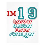 I'm Nineteen. Harder Better Faster Stronger! Birth Letterhead Template