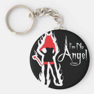 I'm no Angel Black (Flames) Keychain