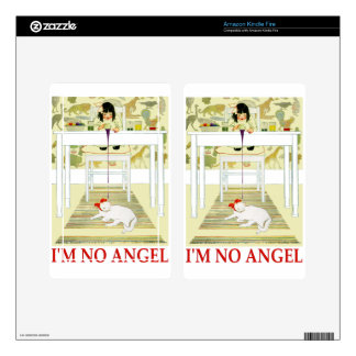 I'm No Angel! Decal For Kindle Fire