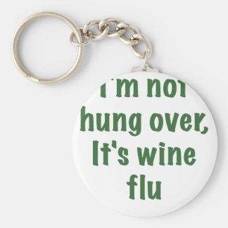 Im no colgado sobre su gripe del vino llaveros