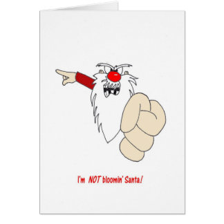 Im NO tarjeta de Navidad de Bloomin Santa