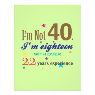I'm Not 40 - Funny Birthday Gift Flyer