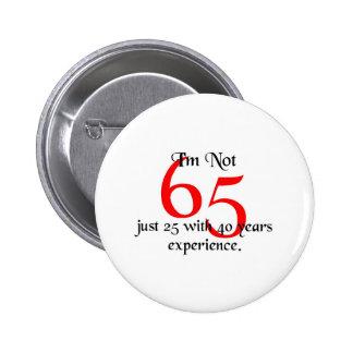 I'm not 65 2 inch round button