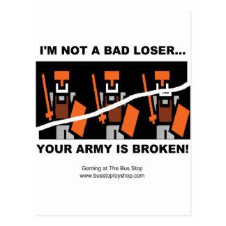 I'm Not A Bad Loser Postcard