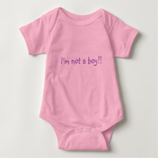 I'm not a boy!! baby bodysuit