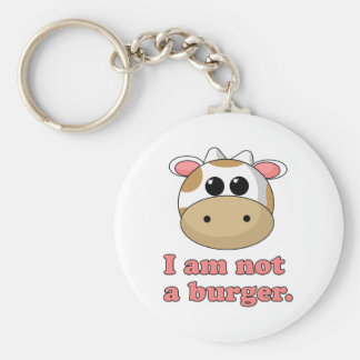 I'm Not a Burger Basic Round Button Keychain