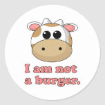 I'm Not a Burger Stickers