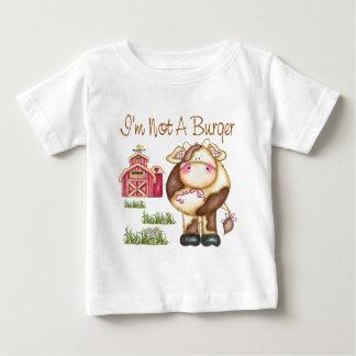 I'm Not A Burger Vegan/Vegetarian Baby T-Shirt