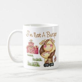 I'm Not A Burger Vegan/Vegetarian Mug/Cup Coffee Mug