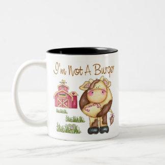 I'm Not A Burger Vegan/Vegetarian Mug/Cup Two-Tone Coffee Mug