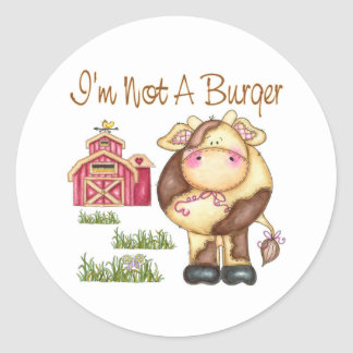 I'm Not A Burger Vegan/Vegetarian Stickers