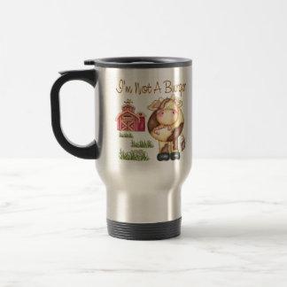 I'm Not A Burger Vegan/Vegetarian Travel Mug/Cup Travel Mug