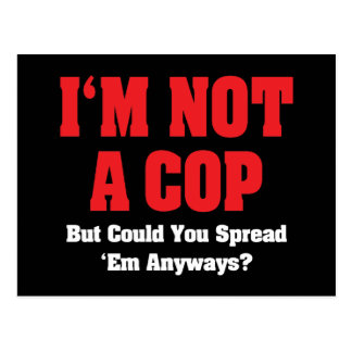 I'm Not A Cop But Could You Spread 'em Anyways? Postcard