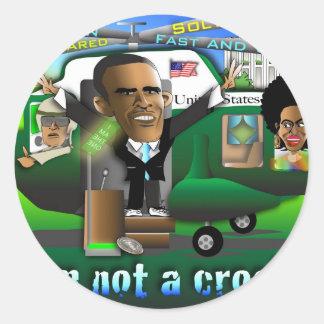 I'm Not a Crook Classic Round Sticker