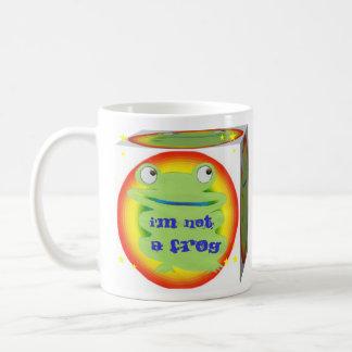 i'm not a frog classic white coffee mug