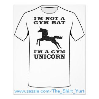"""I'm Not A Gym Rat I'm A Gym Unicorn 4.5"""" X 5.6"""" Flyer"""
