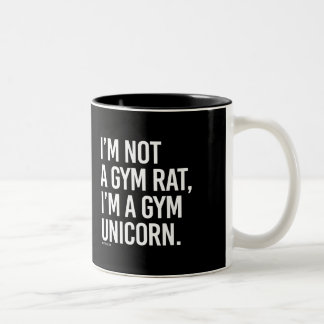 I'm not a gym rat I'm a gym unicorn -   - Gym Humo Two-Tone Coffee Mug