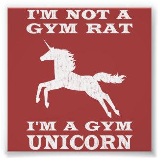 I'm Not A Gym Rat I'm A Gym Unicorn Photo Print