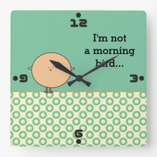 I'm not a morning bird Funny numbers wall clocks