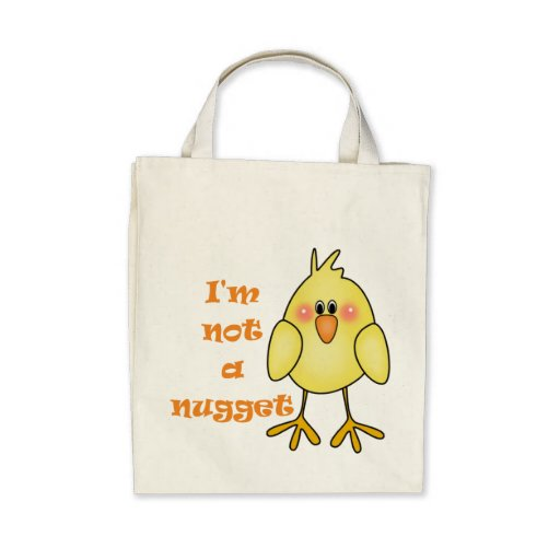 I'm Not A Nugget Vegan/Vegetarian Grocery Tote Bag