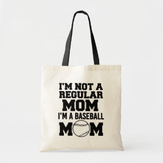 I'm not a regular mom, I'm a Baseball Mom funny Tote Bag