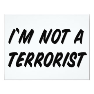 I'm Not a Terrorist Card
