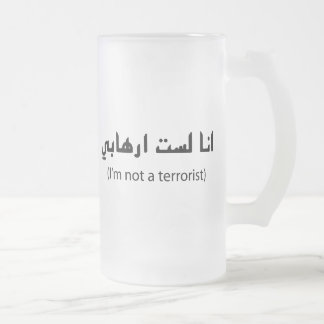 I'm Not A Terrorist Frosted Glass Beer Mug