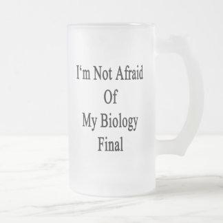 I'm Not Afraid Of My Biology Final 16 Oz Frosted Glass Beer Mug