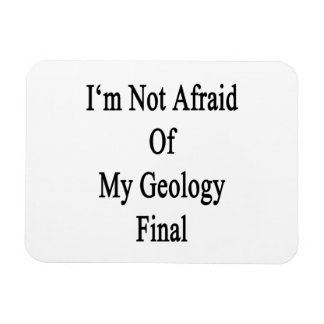 I'm Not Afraid Of My Geology Final Rectangle Magnets