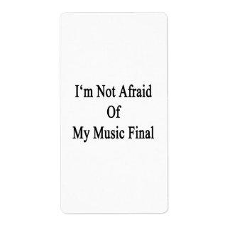 I'm Not Afraid Of My Music Final Custom Shipping Labels