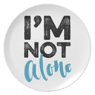 I'm Not Alone - Hand Lettering Typography Design Melamine Plate