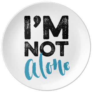 I'm Not Alone - Hand Lettering Typography Design Plate