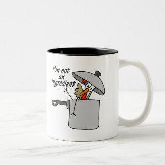 I'm Not An Ingredient Turkey Gift Two-Tone Coffee Mug
