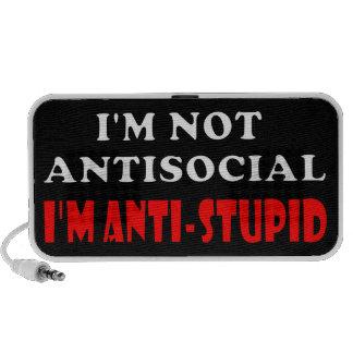 I'm Not Antisocial I'm Anti-Stupid Laptop Speakers