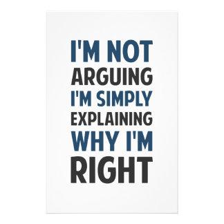 I'm Not Arguing I'm Explaining Stationery